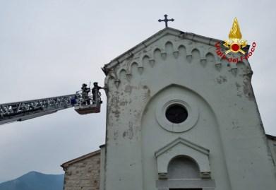 SASSOFERRATO fulmine colpisce chiesa Frassaineta2021-06-08 (2)