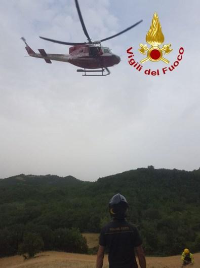 URBINO motociclista scarpata soccorso ospedale Torrette2021-06-20 (2)