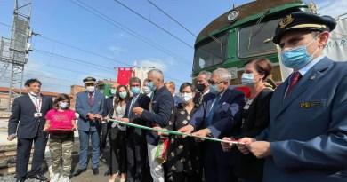 Dopo 8 anni è tornato il treno storico Fabriano-Pergola