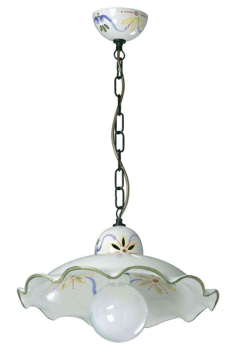 Coppia vasi ceramica dipinti a mano decorazioni floreali. Lampadari Ceramica Decorata A Mano Made In Italy La Luce Del Futuro