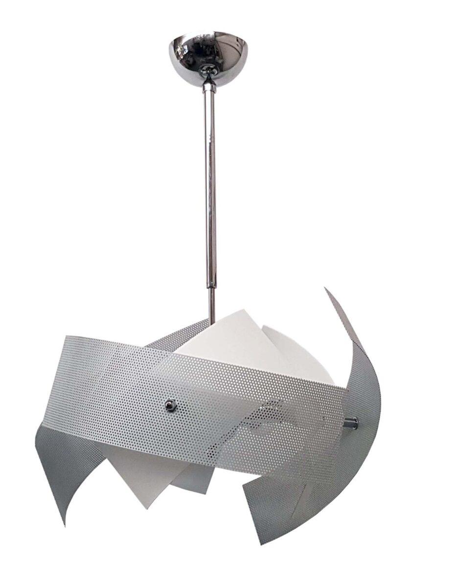 I lampadari sono un elemento fondamentale per l'arredo della nostra casa. Lampadario Grigio Bianco 6 Luci Cucina Soggiorno Salotto Cameretta Camera Letto