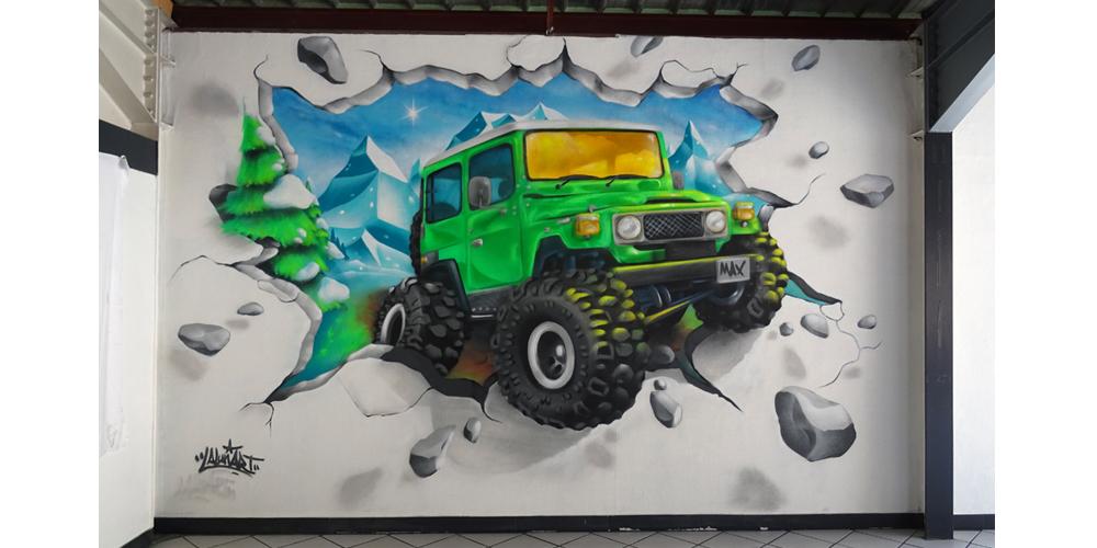 decoration chambre graffiti 4x4 bj40