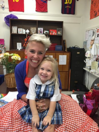 Our first day of school! in my classroom, and both in uniform