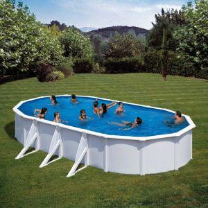 piscina ovale Gre Serie Fidji cm 800x470x120