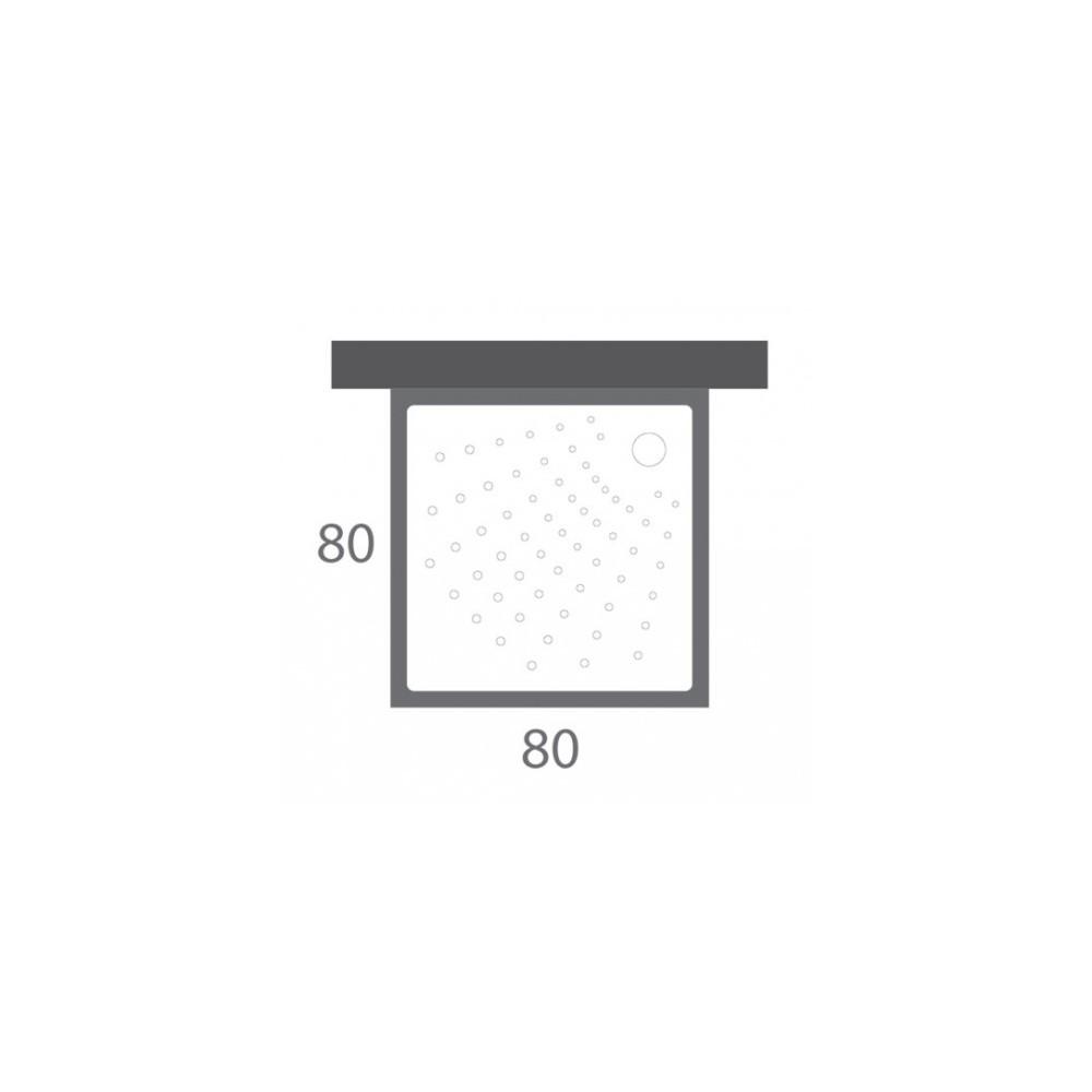 receveur de douche extra plat 80x80 sanimed lamaison tn