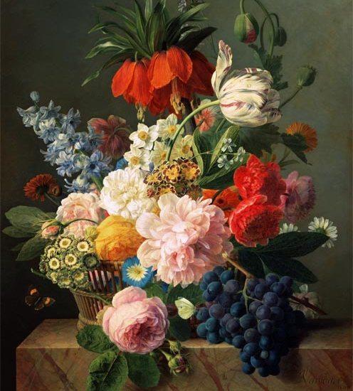 Blumen und fruechte