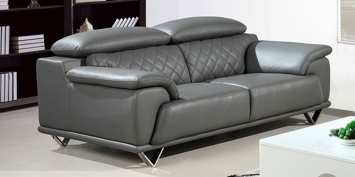 https www lamaisonducanape com canape 2 places en cuir superieur gris souris garcia html