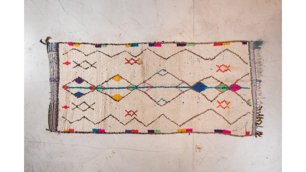tapis azilal piece unique ancienne tapis berbere colore
