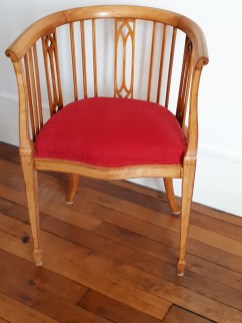 Réfection d'un fauteuil, de style Art nouveau