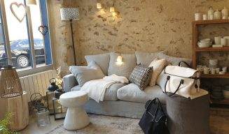 Canapé Biarritz en lin gris