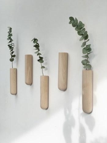 Vases muraux en bois Anso Design