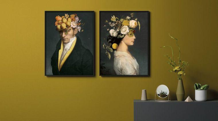 Portrait collector peinture sur aluminium