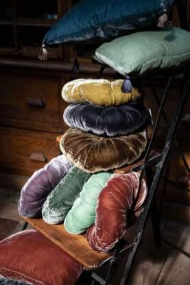 Coussin en velours de soie