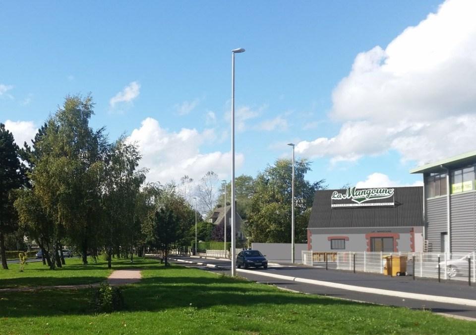 Vue de la future brasserie La Mangoune à Aurillac