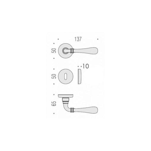 Maniglie per porta Colombo Design modello IDA bronzo anticoIDA