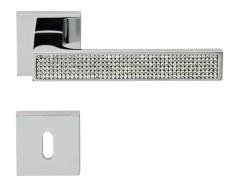 Maniglie Linea Calì Zen Mesh cromo 024 con cristalli Swarovski®