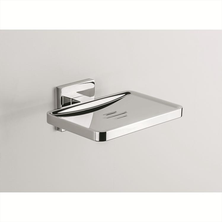 Colombo Design Arredo Bagno Basic Q B3781 PORTA SAPONE INAMOVIBILE CROMO |  Maniglie per porte interne