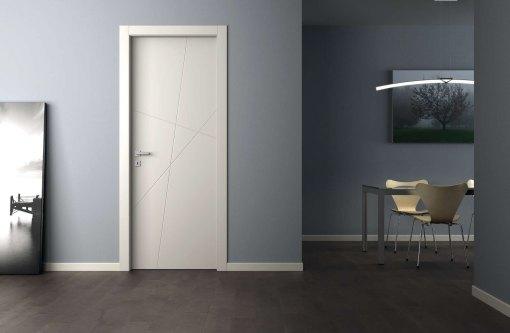 ADEA PORTE INTERNE Collezione Corea Quatre Legno Laccato Bianco cerniere 3D serratura magnetica