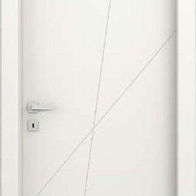lic ADEA PORTE INTERNE Collezione Corea Quatre  Legno Laccato Bianco cerniere 3D serratura magnetica