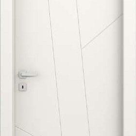 sona ADEA PORTE INTERNE Collezione Corea Quatre  Legno Laccato Bianco cerniere 3D serratura magnetica