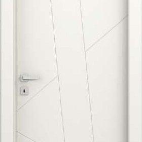 tube ADEA PORTE INTERNE Collezione Corea Quatre  Legno Laccato Bianco cerniere 3D serratura magnetica