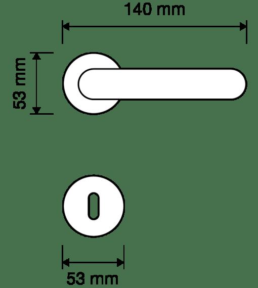 Maniglia Barocco Linea Calì, lineacalì su rosetta bocchetta 113