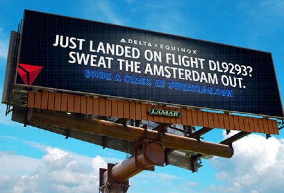 Delta Equinox #SweatLag Digital Billboard