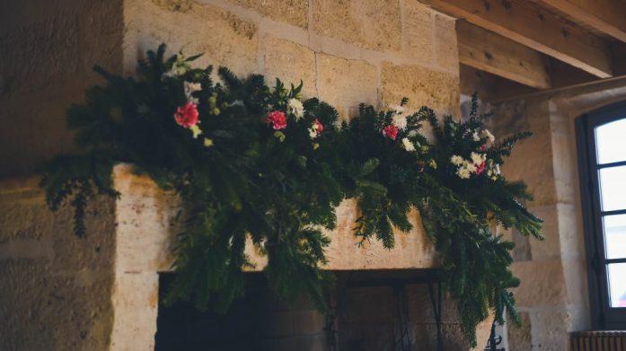 Fleurs brunch du lendemain du mariage hivernal