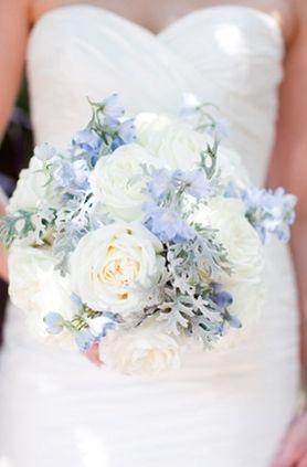Bouquet de mariée mariage bleu