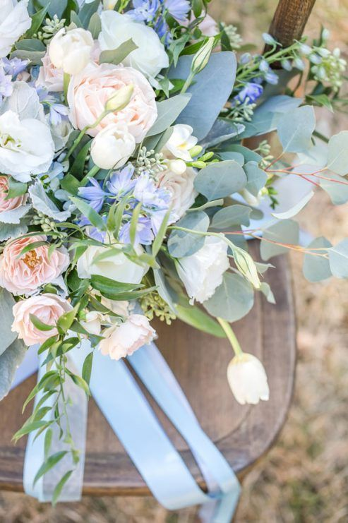 Bouquet de mariage bleu