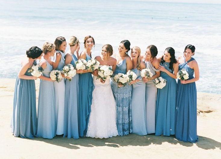 Demoiselles d'honneur mariage bleu