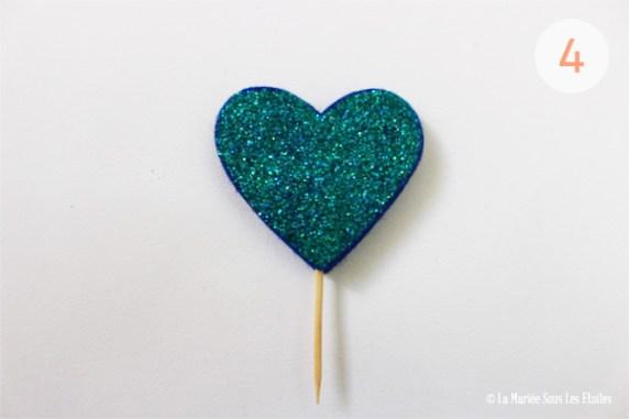 {DIY} Cake topper en cœur pailleté | Atelier Do It Yourself : Etape 2 : Cœur pailleté | La Mariée Sous Les Etoiles | Blog Mariage