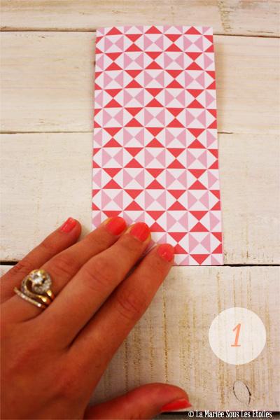 DIY {Do It Yourself} Marque-places cœur en origami| Etape 2 : L'art du pliage 1 par La Mariée Sous Les Etoiles