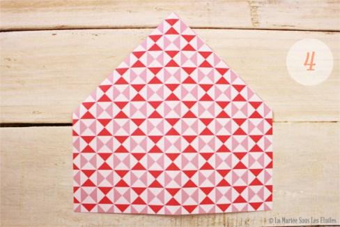 DIY {Do It Yourself} Marque-places cœur en origami| Etape 2 : L'art du pliage 4 par La Mariée Sous Les Etoiles