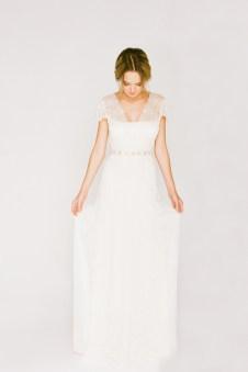 Robe de mariée Saja, modèle Queens, Boutique Plume Paris