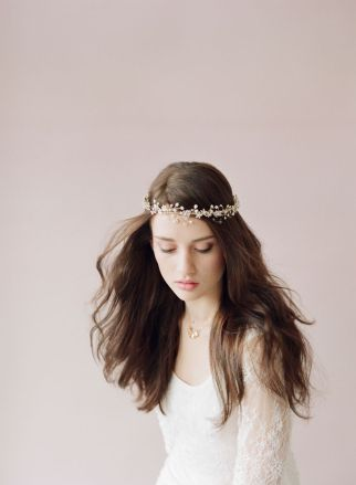 Couronne de fleurs Mariage_Hair Crown via Twigs and Honey