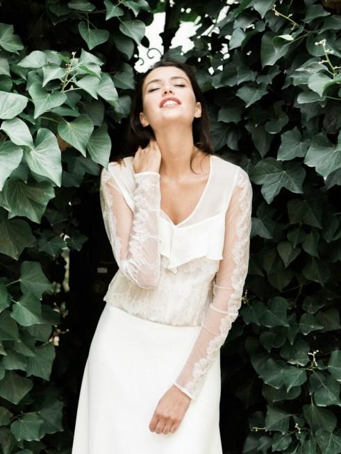 Sophie Sarfati, Collection 2016 de robes de mariée, robe Garance, vue de face © Lifestories : Yann Audic