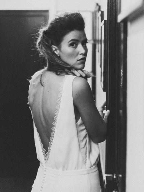 Sophie Sarfati, Collection 2016, Noir et Blanc, Robe Philosophy, vue de dos © Lifestories : Yann Audic