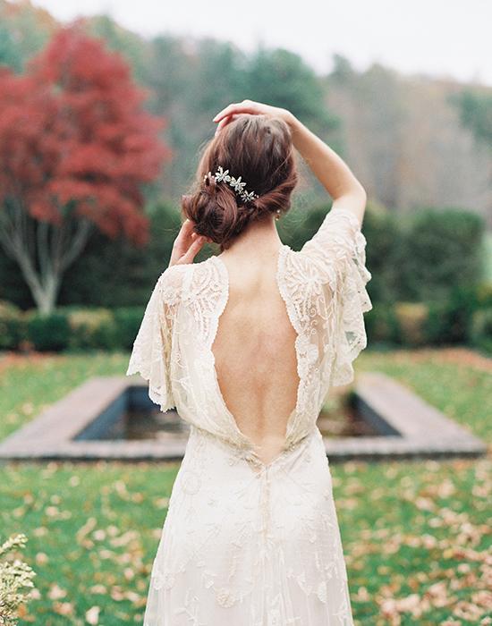 Chignon mariage bas coté © Liv Hart