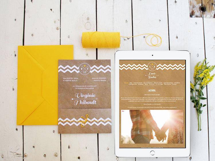 Concours - Gagne ton blog de mariage personnalisé - Petit Mariage Entre Amis X Crème de Papier | La Mariée Sous Les Etoiles