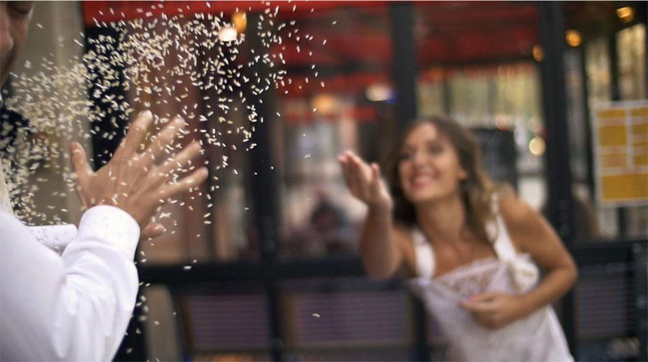 Save The Date vidéo ✩ lancer de confettis   La Mariée Sous Les Etoiles