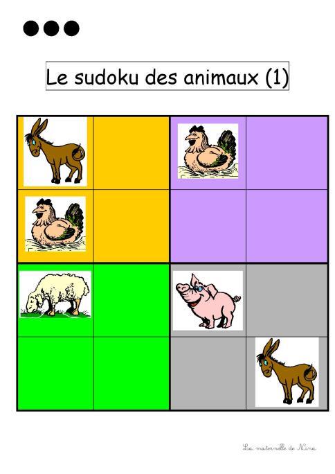 Le sudoku des animaux