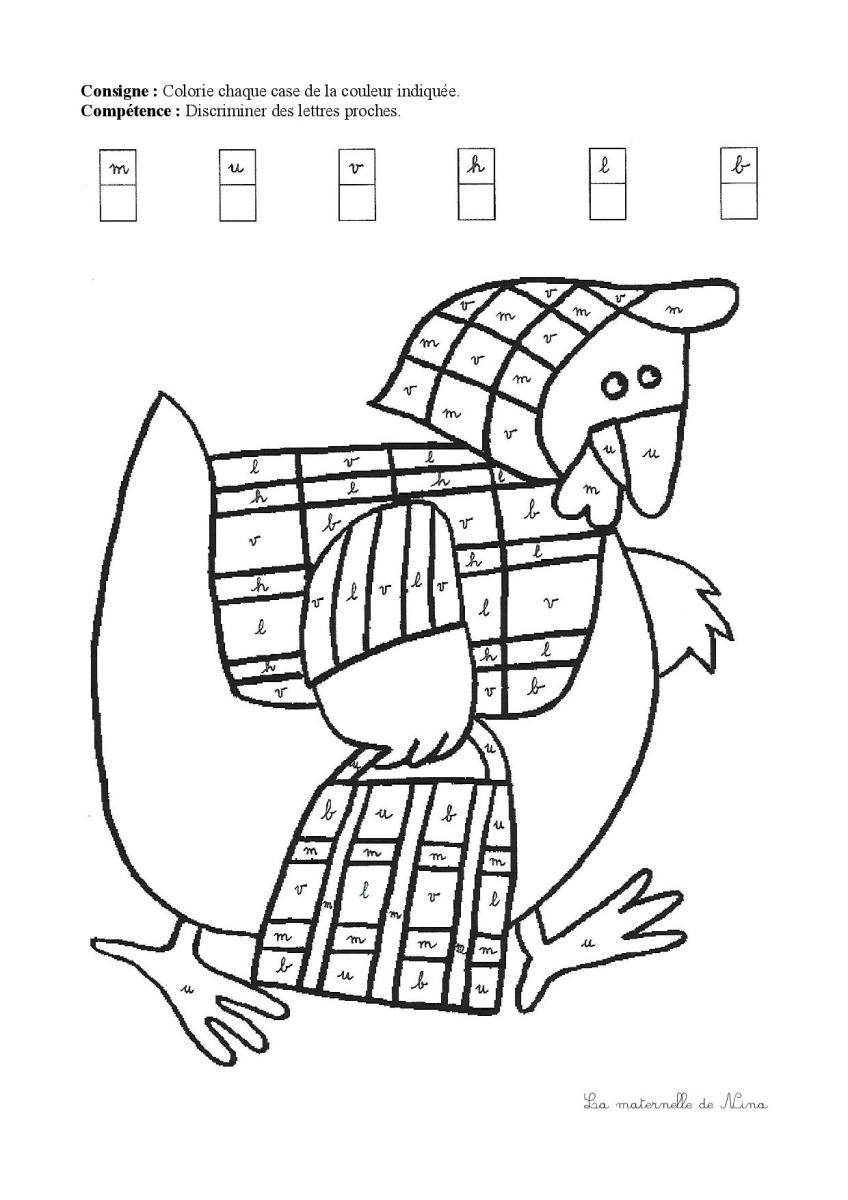 Pâques : coloriages codés - La Maternelle de Nina