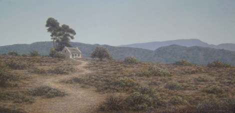 Klein Karoo Cottage Oil on canvas