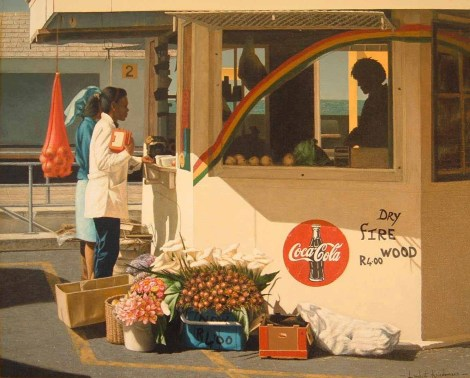 Kalk bay Station Kiosk Oil on canvas