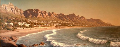 Camps Bay from Glen Camps Bay from Glen Beach Oil on canvas Approx 270 x 110 cm