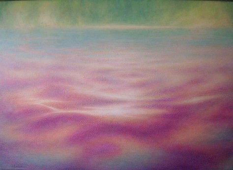 Towards Tranquility Oil on canvas 168 x 120 cm