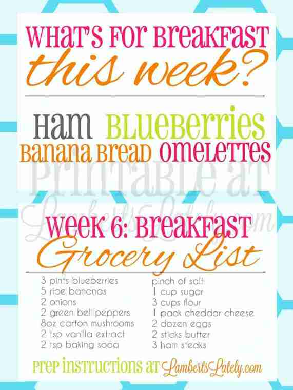 You can get your breakfast prep for the week completed with this one post! She has free printables, menus, grocery lists, and preparation instructions for 6 weeks of meals. Make morning with kids/families so much easier!