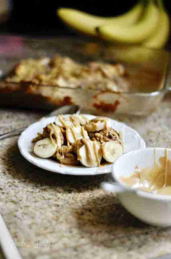 This Overnight Monkey French Toast Casserole recipe has all of the flavors of peanut butter, bananas, and rich custard. It's an easy make-ahead breakfast that is such comfort food!
