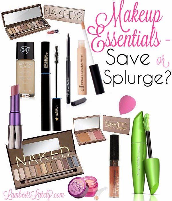 Ever wonder when to buy bargain makeup and when to splurge a little? This is a great list of what essentials to buy! https://www.lambertslately.com/2013/11/makeup-essentials-save-or-splurge.html